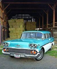 nice 58 Chevy wagon