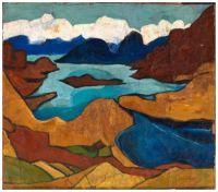 Mountain Lake (c.1935-38) ~ William H. Johnson