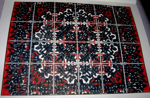 (For lockcutter) Art - Tile - Red & Black Anger