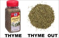 THYME HAS COME TODAY