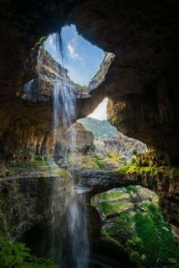 Three bridges cave baatara gorge waterfall lebanon