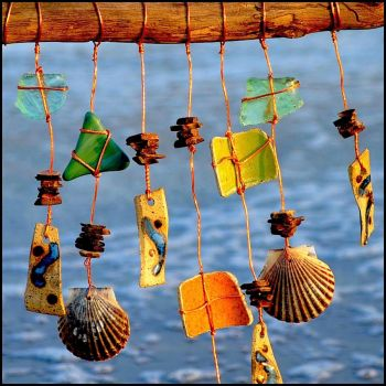 Wind Chimes with Shells!