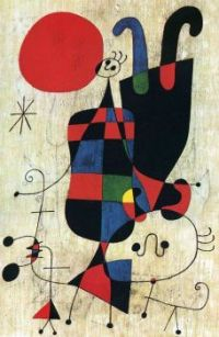 Figures and Dog in front of the Sun, 1949 by Joan Joan Miró