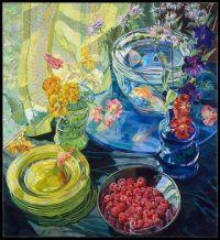 Raspberries and Golfish by Janet Fish