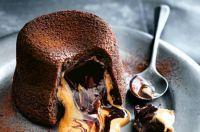 Molten Peanut Butter Chocolate Fondant Cake