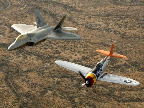 F-22 RAPTOR & P47 THUNDERBOLT