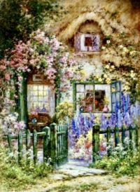 Flowered cottage!