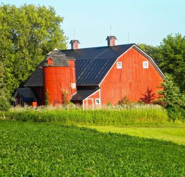Red Barn and Silo....