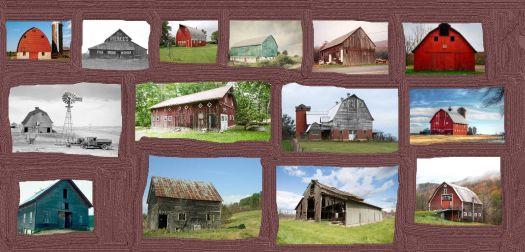 barn collage