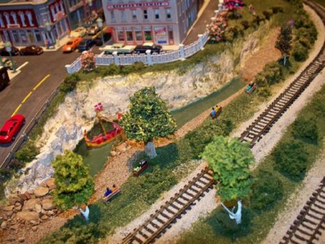 Part of Friends Train Layout