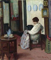 Agnes Goodsir  woman in an interior