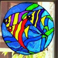 Tropical Fish Circle Shape