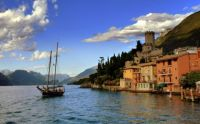 Late afternoon at Lago di Garda, Italy