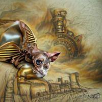 Steampunk Sphinx Cat