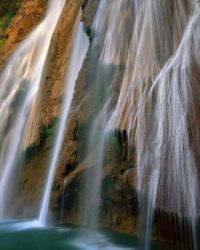 Waterfalls look like silk