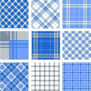 patterns in blue