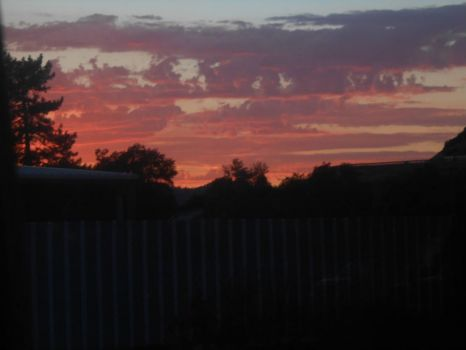 THEME: Home Sweet Home ~ Gorgeous Sunset, Seen From My Dining Room Window!