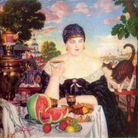 The merchant's wife. B.Kustodiev