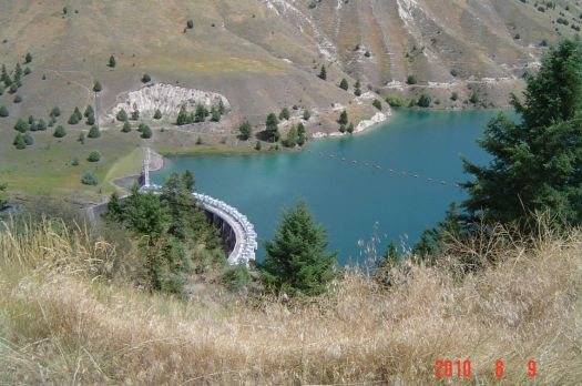 Kerr Dam creating Flathead Lake