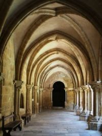 Cloister at old cathedral, Coimbra. Portugal
