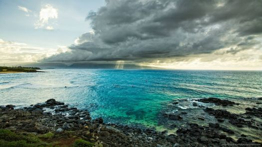 awesome-blue-shore-with-clouds