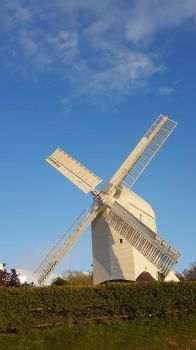 Jack and Jill Windmill. Clayton in Sussex, England