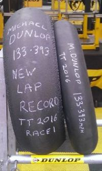 Lap record tyres from Isle of Man TT 2016