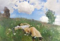 "Eero Järnefelt, ""Saimi in the Meadow"""