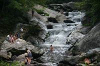 Summer fun in a North Carolina river