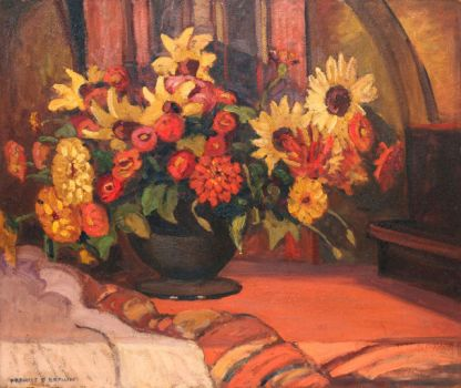 Floral Still Life by Francis Focer Brown