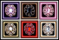 Six Colorful Brooches  - enjoy!
