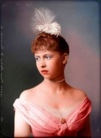Colorized photo of a young Victorian woman