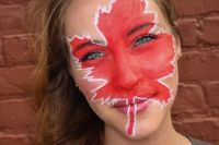 Canadian face painting