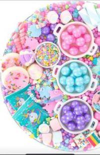 Unicorn candy charcuterie board