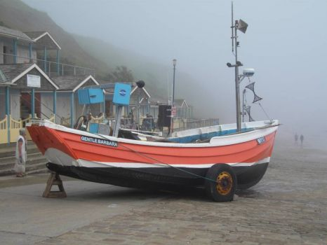FISHING BOAT  FILEY EAST YORSHIRE 2012