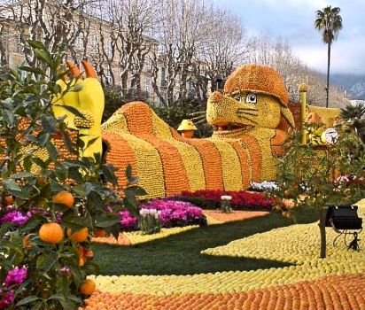 Lemon festival in Menton, France, Citrusový festival v Mentonu, Francie
