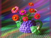 Vibrant Vase and Flowers