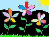 070318 Big Happy Flowers