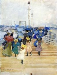 South Boston Pier, also known as Atlantic City Pier, Maurice Prendergast