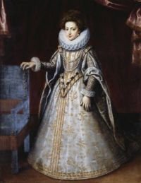 Henrietta Maria, Queen consort of England, when she was a little Princesse of France.