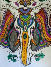 Elephant 3 - coloring book
