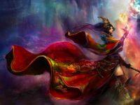 Lady In Red - Sorceress in Red Cloak