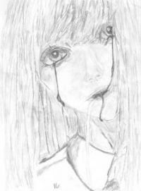 Drawing Crying Girl