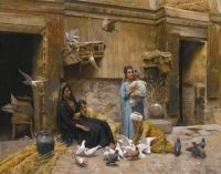 "Rudolph Swoboda, ""A Cairene Courtyard"""