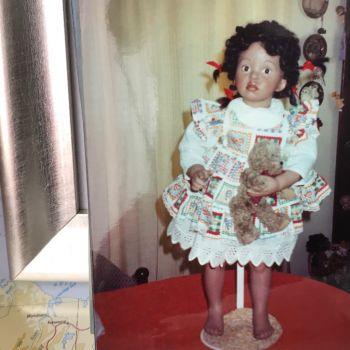 One of the porcelain dolls I made.