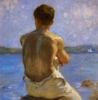 Henry Scott Tuke, The Lighthouse (n.d.)
