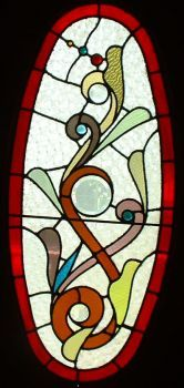 STAINED GLASS IN FOYER