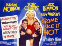 SOME LIKE IT HOT - 1959 MOVIE POSTER  MARILYN MONROE, TONY CURTIS, JACK LEMMON