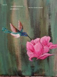My Hummingbird  and  Pink Magnolia