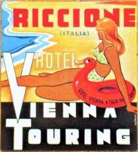 Themes Vintage Travel Poster - Vienna Touring Riccione